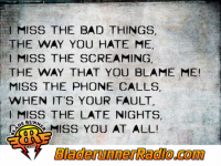 Halestorm - i miss the misery - pic 0 small
