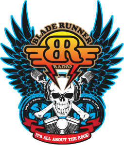 TRANSPARENT BLUE BIKER LOGO FOR BLACK