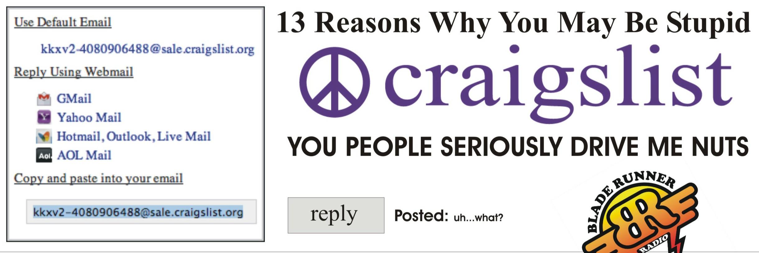 craigslist stupid people top 13