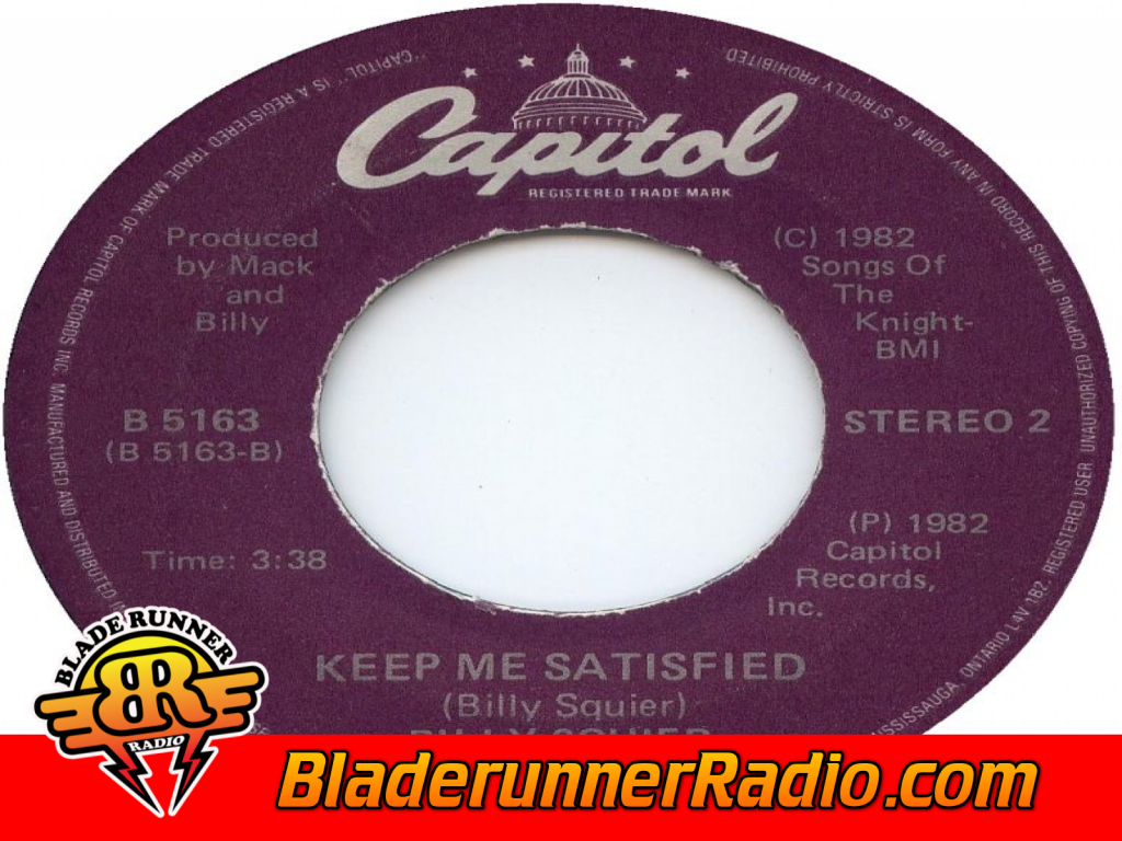Billy Squier - Keep Me Satisfied (image 1)