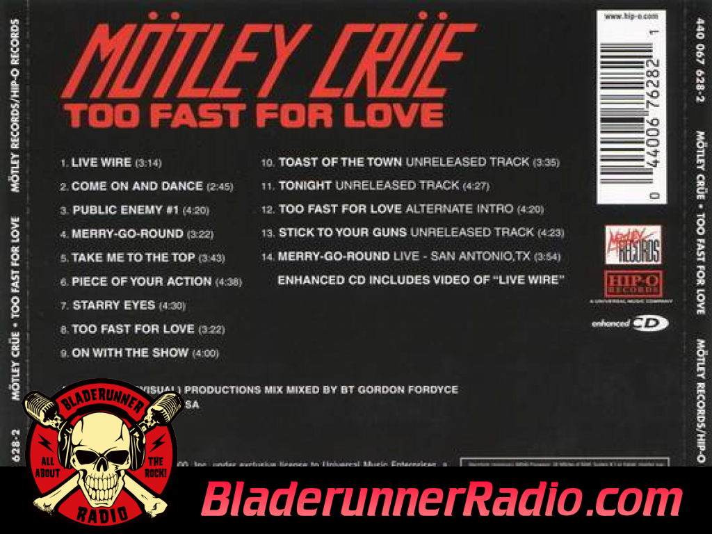 Motley Crue - Too Fast For Love (image 8)