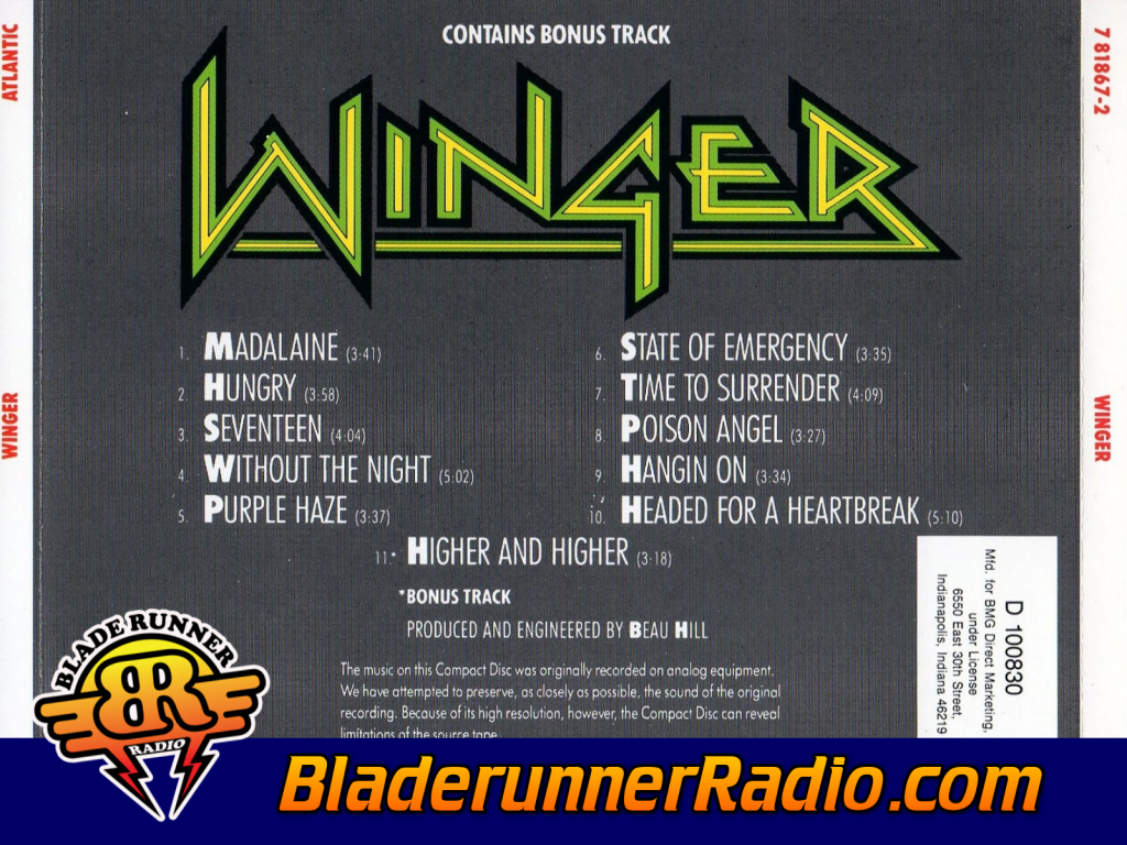 Winger - Purple Haze (image 9)