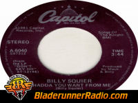 Billy Squier - whadda ya want from me - pic 1 small