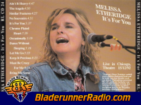 Melissa Etheridge - bring me some water - pic 7 small