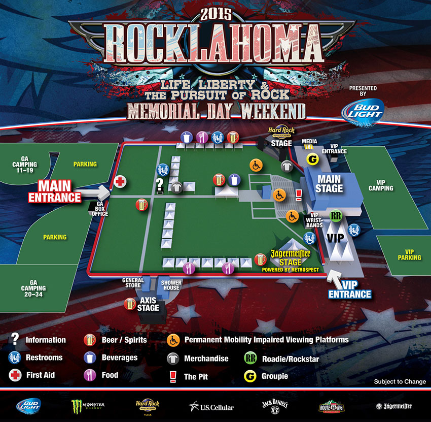 Rocklahoma 2015 Map